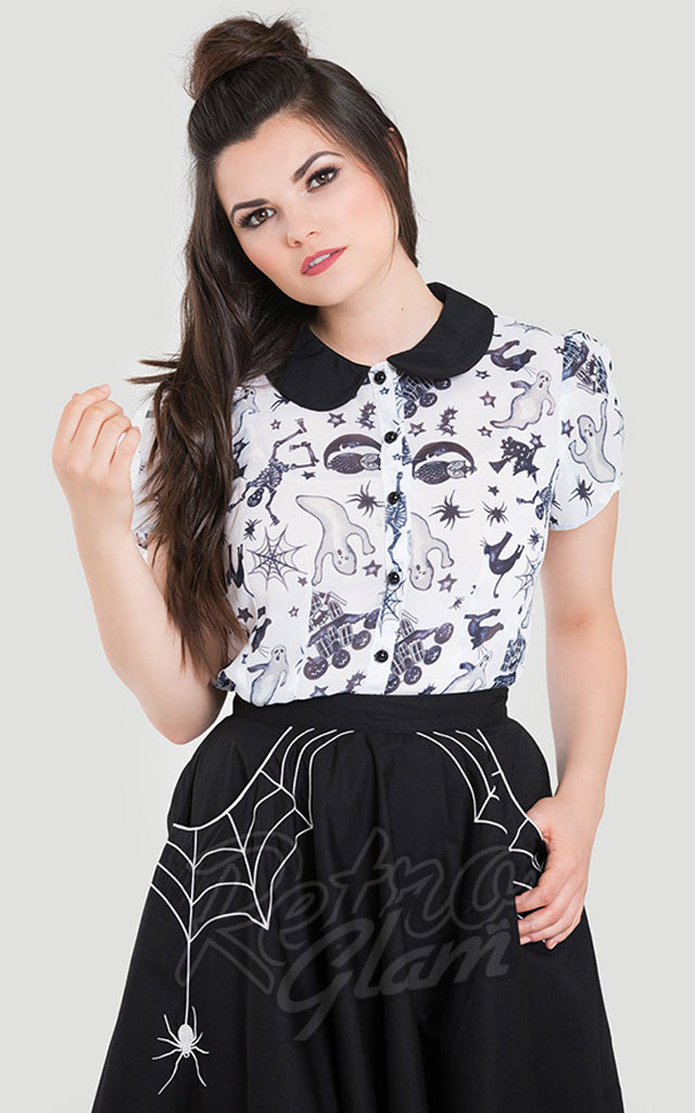 Hell Bunny Spooky Blouse