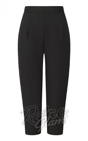 Hell Bunny Amelie Cigarette Pants in Black