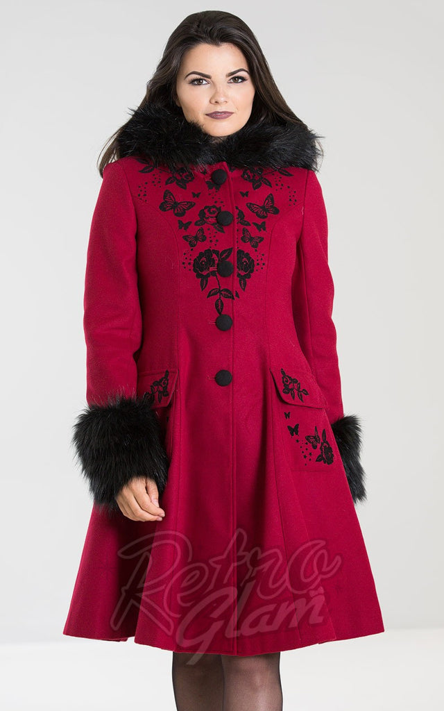 Hell Bunny Anderson Coat in Red
