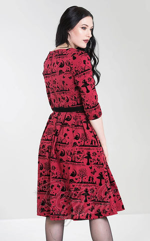 Hell Bunny Anderson Dress in Red back