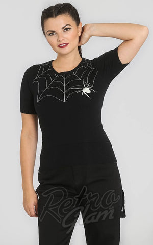 Hell Bunny Black Widow Jumper