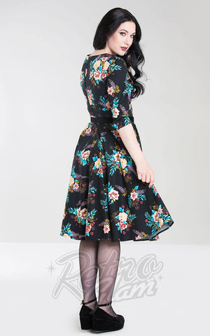 Hell Bunny Bluebell 50's Dress back