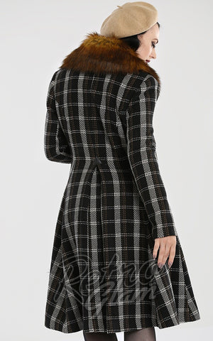 Hell Bunny Brooklyn Coat back