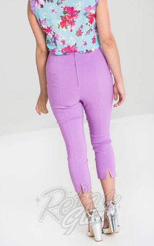 Hell Bunny Tina Capris in Lavender back