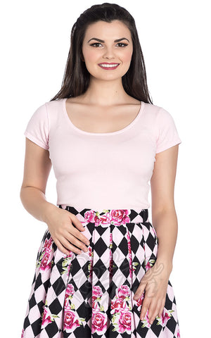 Hell Bunny Celine Top in Pink