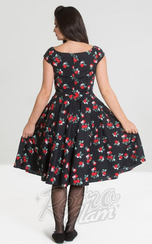 Hell Bunny Apple Blossom 50's Dress back