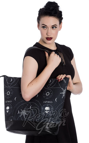 Hell Bunny Dark Magic Boho Tote Bag
