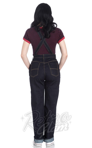 Hell Bunny Elly May Denim Dungarees back