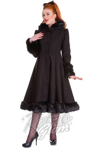 Hell Bunny Elvira Coat in Black