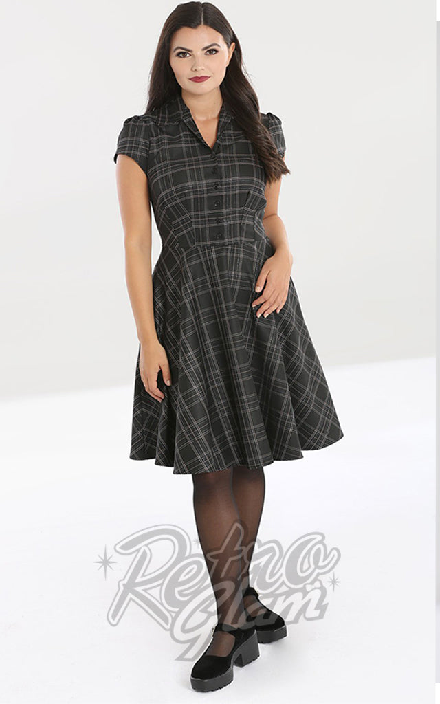 Hell Bunny Plaid Euphoria Mid Dress