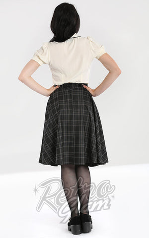 Hell Bunny Plaid Euphoria Skirt back