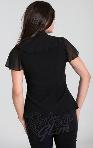 Hell Bunny Evanora Blouse in Black back