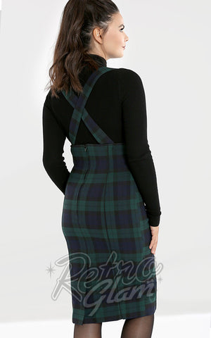Hell Bunny Plaid Evelyn Pinafore Pencil Skirt back
