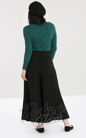 Hell Bunny Godot Culottes in Black back