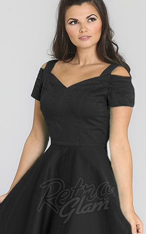 Hell Bunny Helen Dress in Black detail