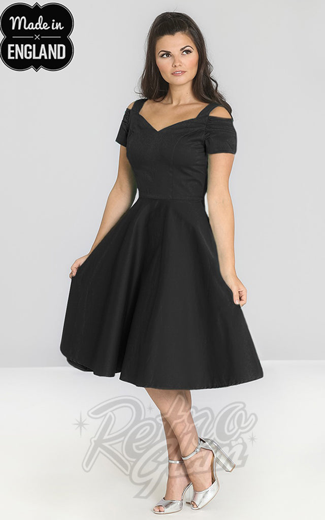 Hell Bunny Helen Dress in Black
