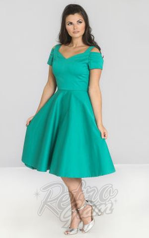 Hell Bunny Helen Dress in Green