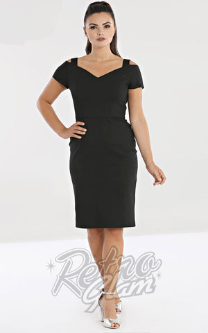 Hell Bunny Helena Pencil Dress in Black