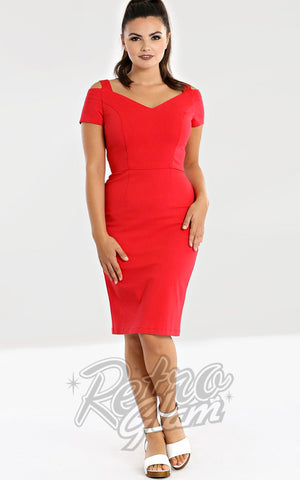 Hell Bunny Helena Wiggle Dress in Red