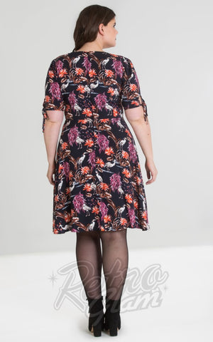 Hell Bunny Heron Dress  curvy back