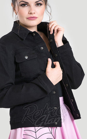 Hell Bunny Black Denim Indiana Jacket