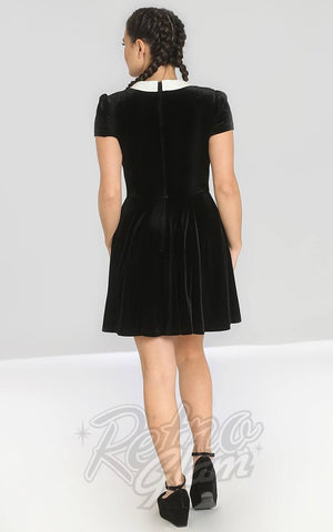 Hell Bunny Interstellar Velvet Mini Dress back