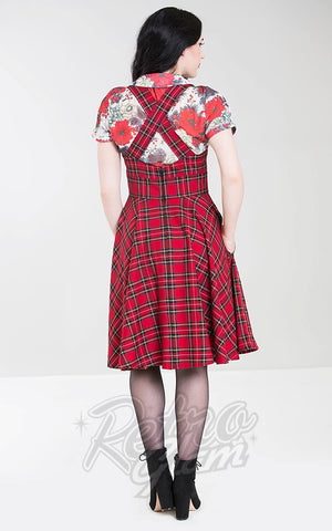 Hell Bunny Irvine Pinafore Dress back