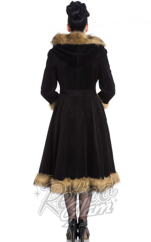 Hell Bunny Isadora Coat in Black Back