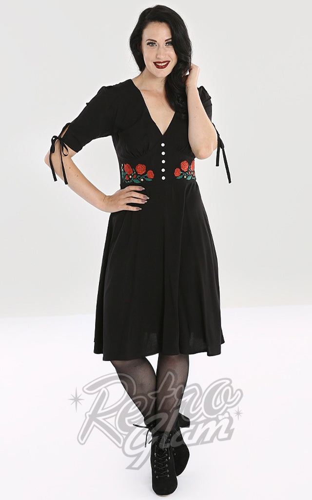 Hell Bunny Embroidered Jacqueline Mid Dress