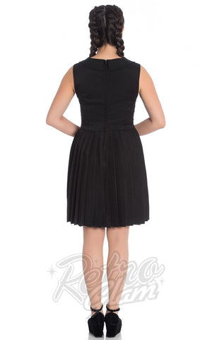 Hell Bunny Josephine Dress in Black Back