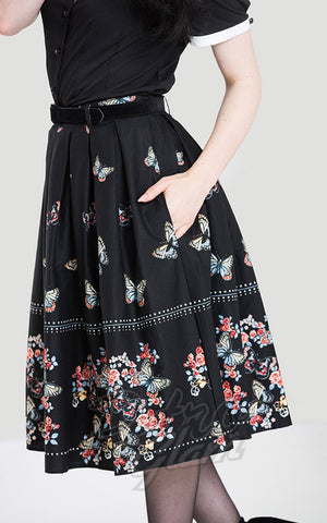 Hell Bunny Leticia 50's Skirt butterlies