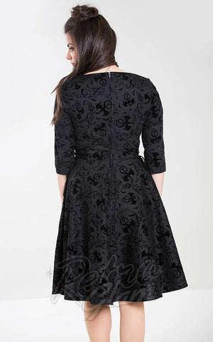 Hell Bunny Maleficent Dress back