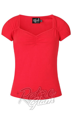 Hell Bunny Mia Top in Red