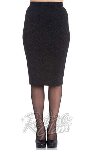 Hell Bunny Nebula Pencil Skirt Back