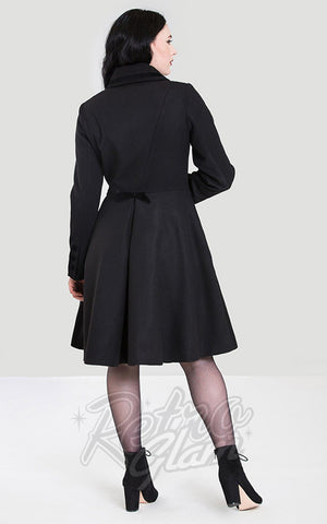 Hell Bunny Olivia Coat in Black back