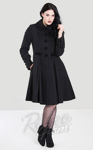 Hell Bunny Olivia Coat in Black