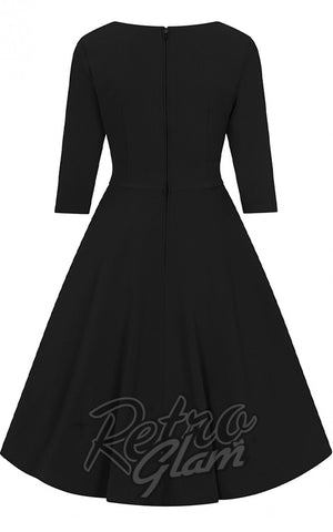 Hell Bunny Patricia 50's Dress in Black back