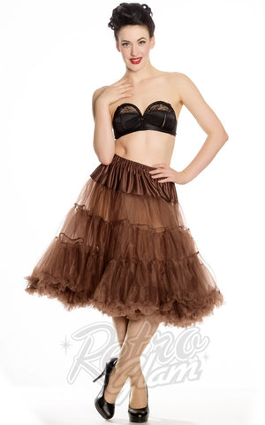 Hell Bunny Chocolate Brown Long Petticoat (Crinoline)