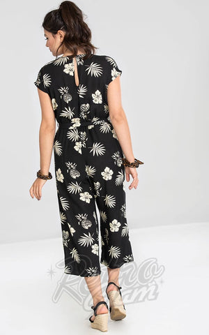 Hell Bunny Pineapple Jumpsuit in Black back