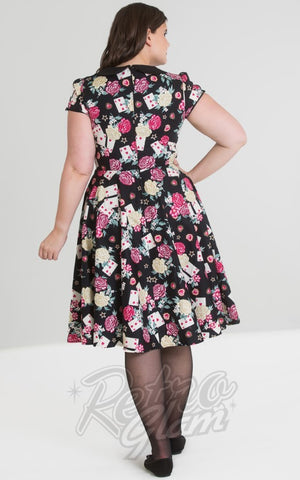 Hell Bunny Queen of Hearts 50s Dress plus size back