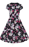 Hell Bunny Queen of Heart 50s Dress  back