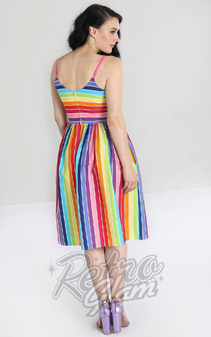 Hell Bunny Over the Rainbow 50's Dress back