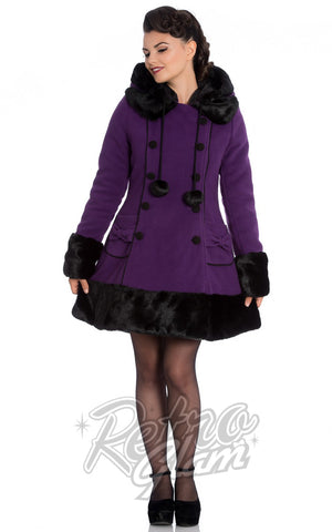 Hell Bunny Sarah Jane Coat in Purple