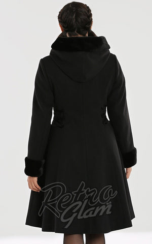 Hell Bunny Scarlet Coat in Black back
