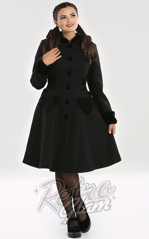 Hell Bunny Scarlet Coat in Black