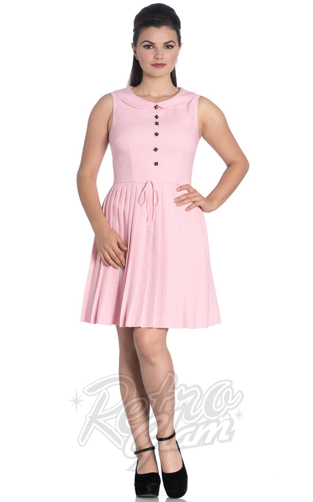 Hell Bunny Josephine Dress in Pink