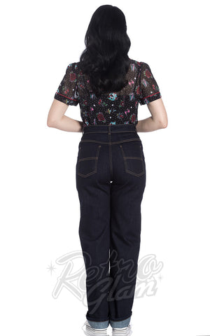 Hell Bunny Weston Denim Jeans Back