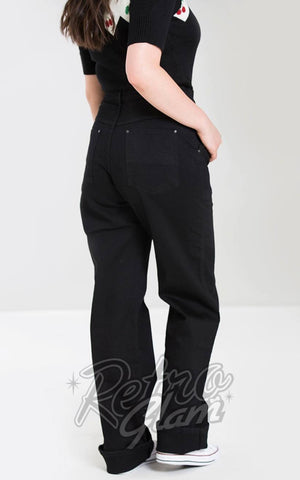 Hell Bunny Weston Denim Jeans in Black back