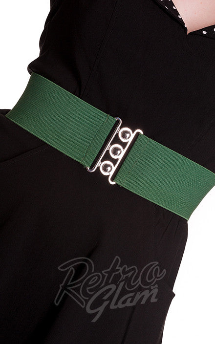 Hell Bunny Retro Belt in Green