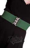 Hell Bunny Retro stretch Belt in Green